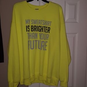 Neon yellow sweatshirt